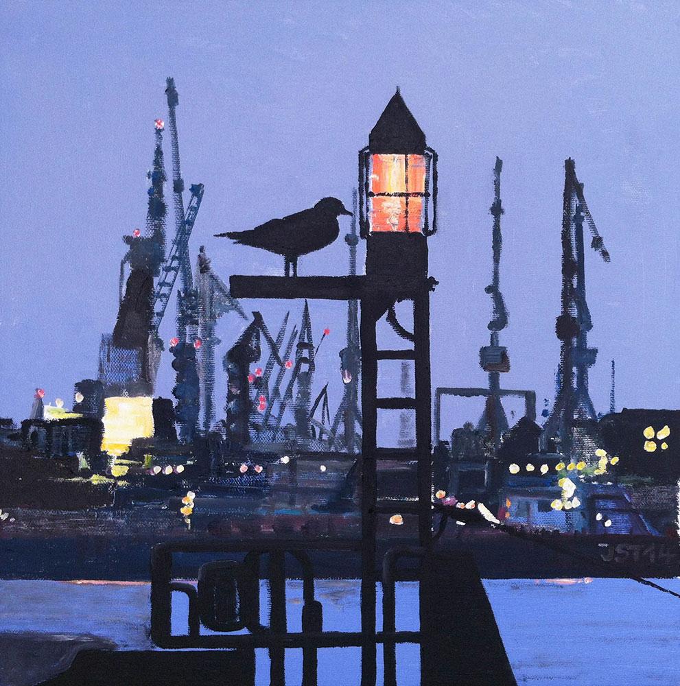 Abendlicht - Öl auf Leinwand - 2014