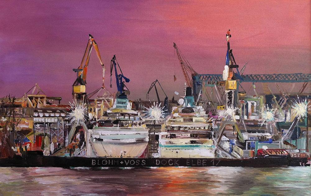 Albatros + Amadea - Öl auf Leinwand - 2011