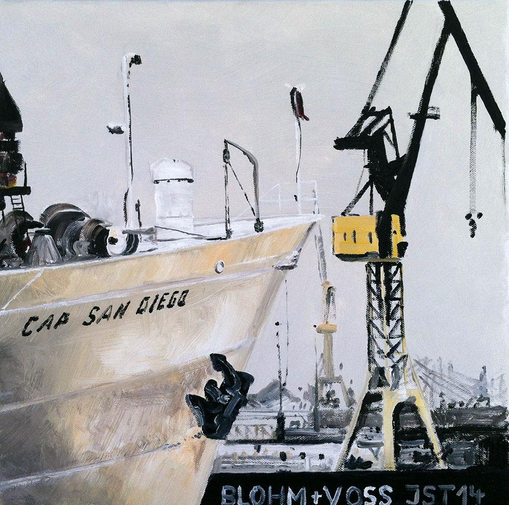 Cap San Diego - Öl auf Leinwand - 2014