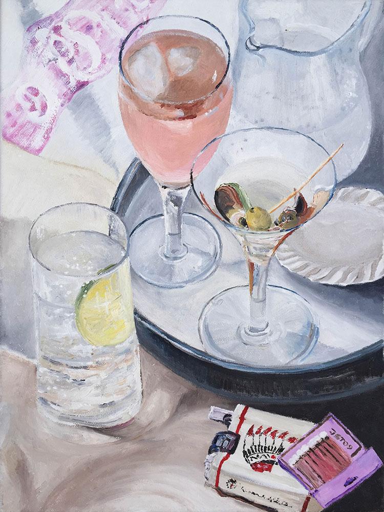 Gin en Variation - Öl auf Leinwand - 2009