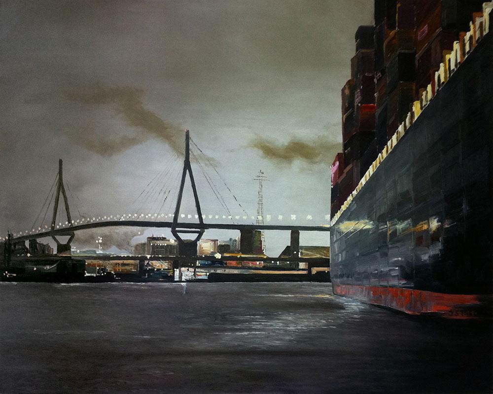 Köhlbrandbrücke - Öl auf Leinwand - 2011