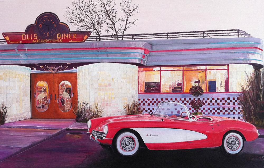 Olis Diner - Öl auf Leinwand - 2015