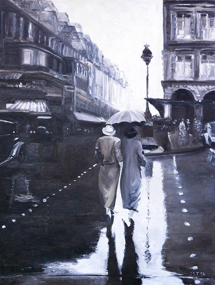 Paris 1934 - Öl auf Leinwand - 2014
