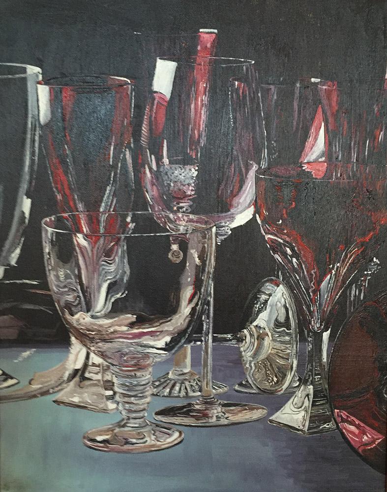 Gläser - Öl auf Leinwand - 1992