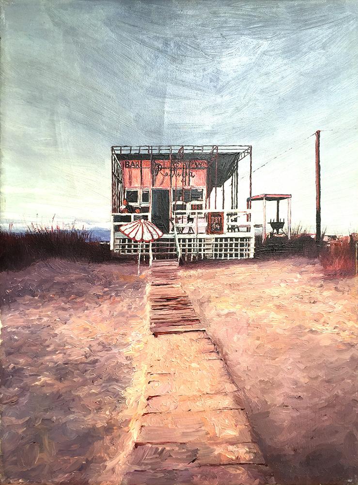 Strandbude - Öl auf Leinwand - 1994