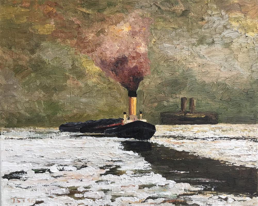 Eisgang - Öl auf Leinwand - 2016