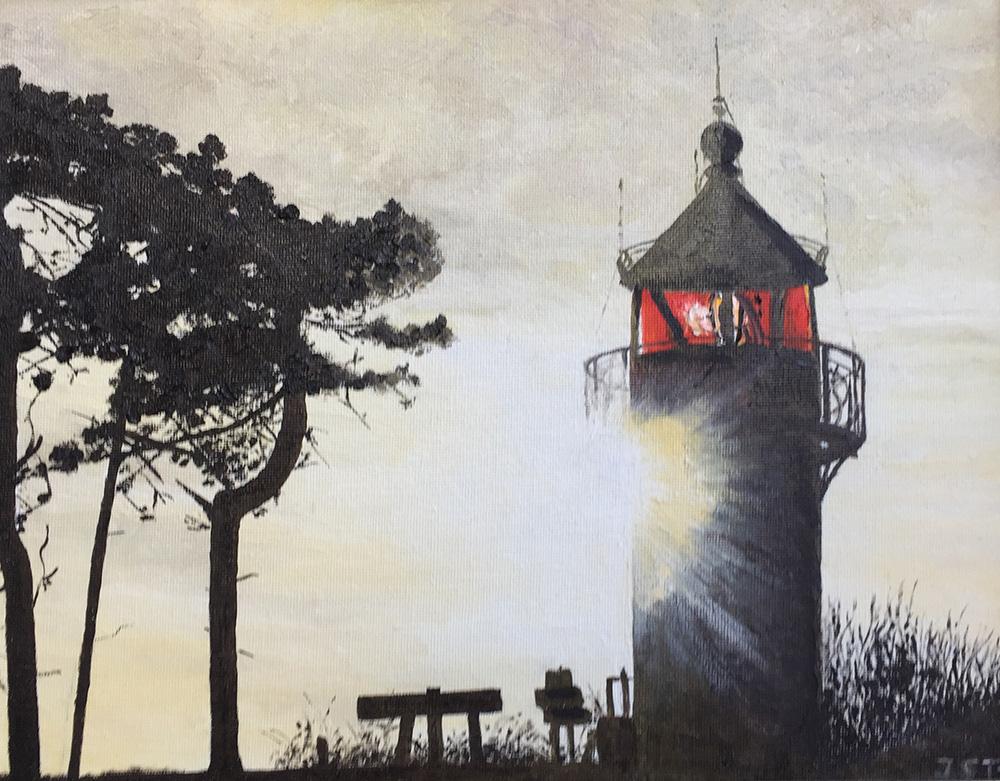 Leuchtturm Buk Usedom - Öl auf Leinwand - 2016