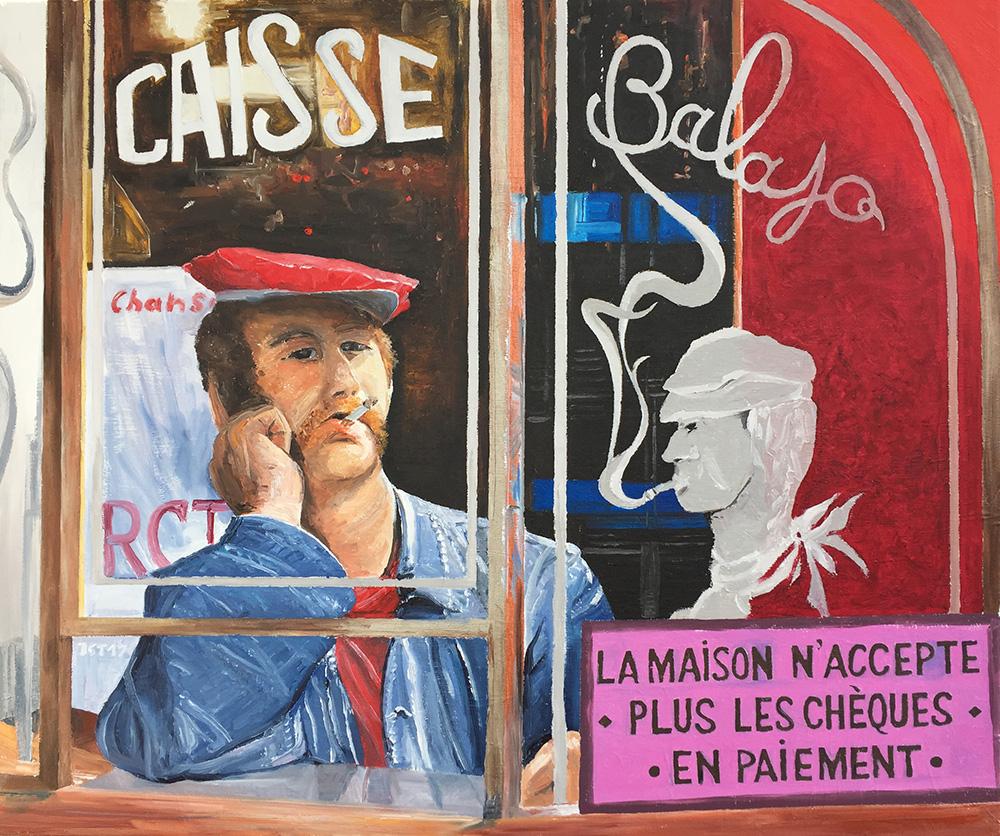 Bar Balajo à Paris - Öl auf Leinwand - 2017