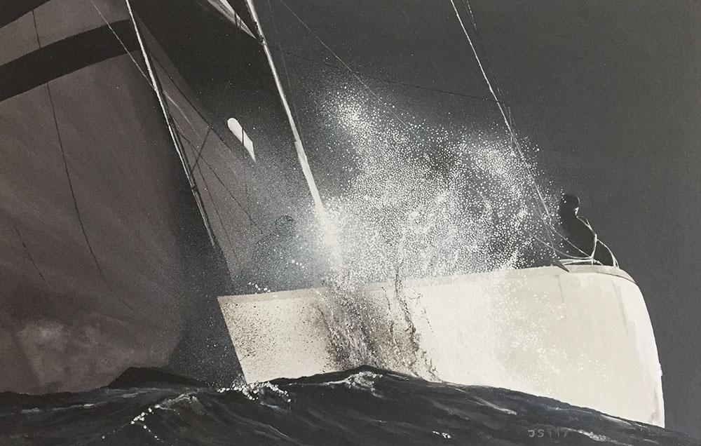 Voilier Fantôme - Öl auf Leinwand - 2017