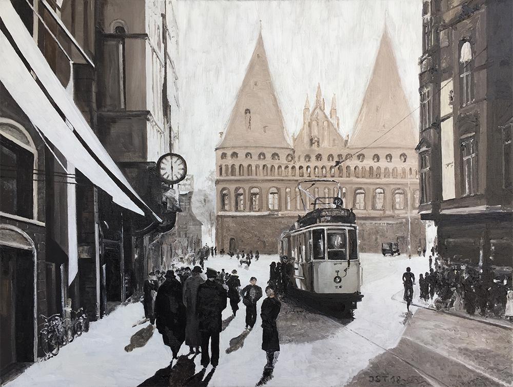 Lübeck 1920 - Öl auf Leinwand - 2018