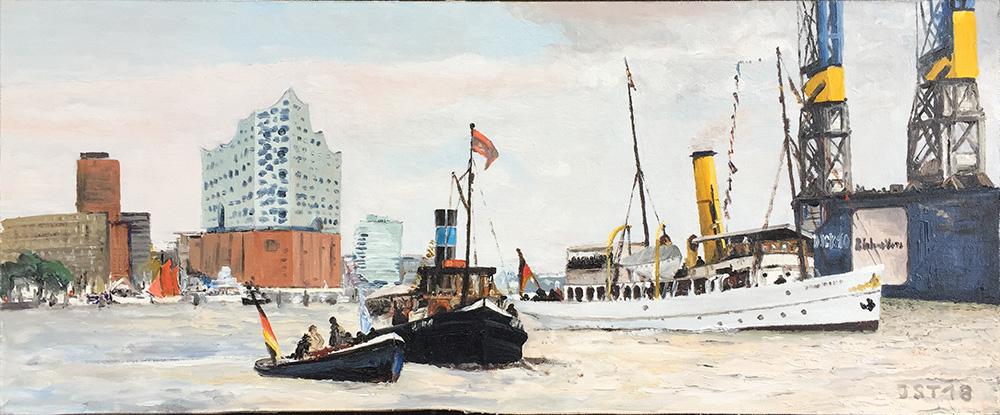 Hafengeburtstag - Öl auf Leinwand - 2018
